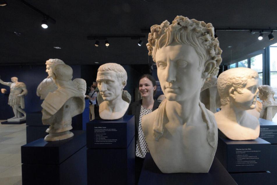 Im Baden-Würtembergischen Limes-Museum stehen die Büsten römischer Herrscher (Archivbild).