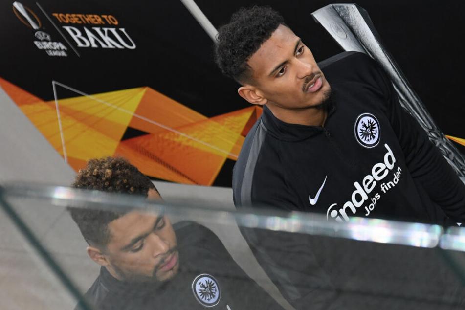 Sebastién Haller (Re.) ist auf dem Transfermarkt aufgrund seiner herausragenden Leistungen bei Eintracht Frankfurt angeblich heißbegehrt.