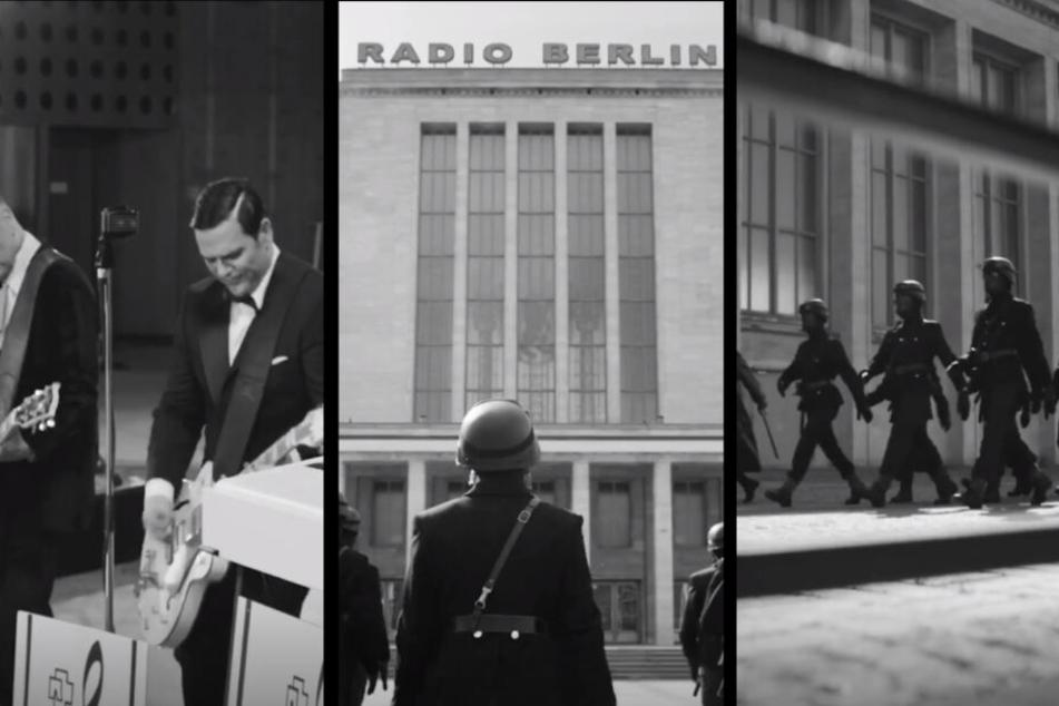 Martialischer schwarz-weiß Look: Rammstein halten ihren Charme auch im neuen Video düster.