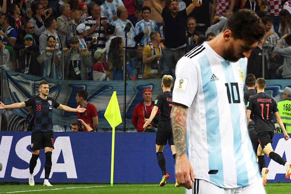 Kroatien zerlegt Argentinien! Ist das das Aus für Messi?