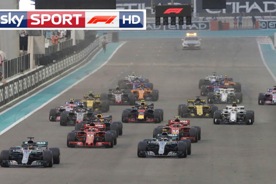 Die Formel 1 Saisons 2019 und 2020 werden wieder über den Pay-TV-Sender Sky empfangbar sein. (Bildmontage)