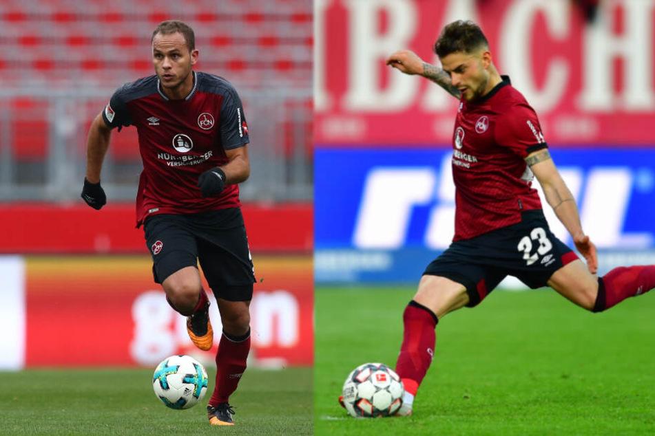 Nürnbergs Innenverteidiger Ewerton (links) steht kurz vor einer Unterschrift beim HSV, Tim Leibold soll als Ersatz für Douglas Santos kommen.