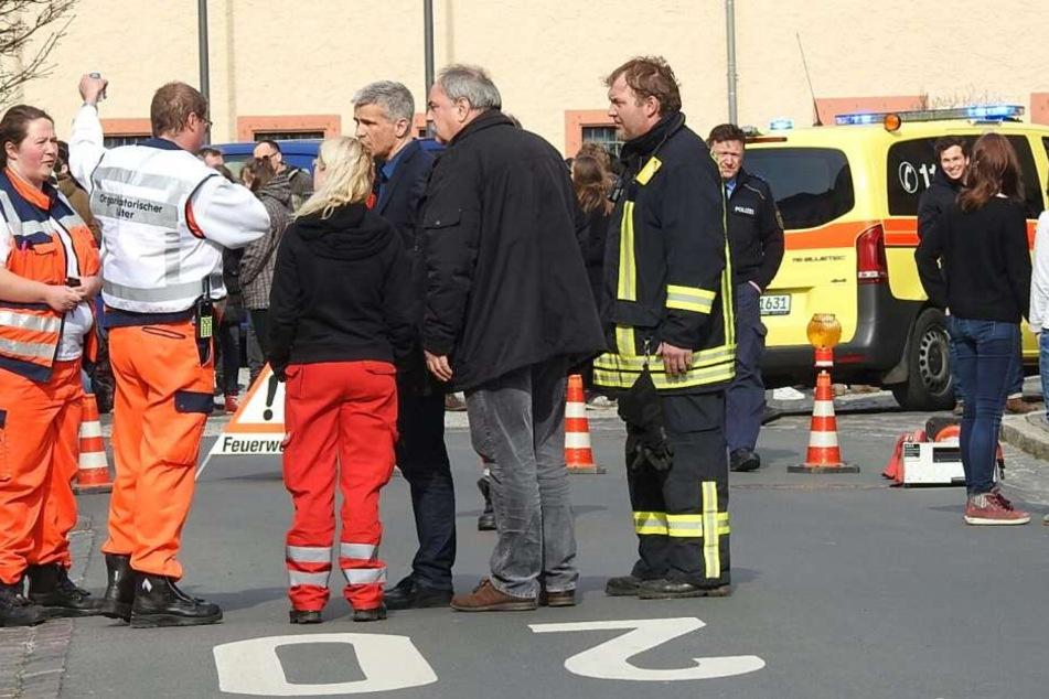 Das Gymnasium Grimma musste evakuiert werden, weil einige Schüler über akute Atemnot klagten.