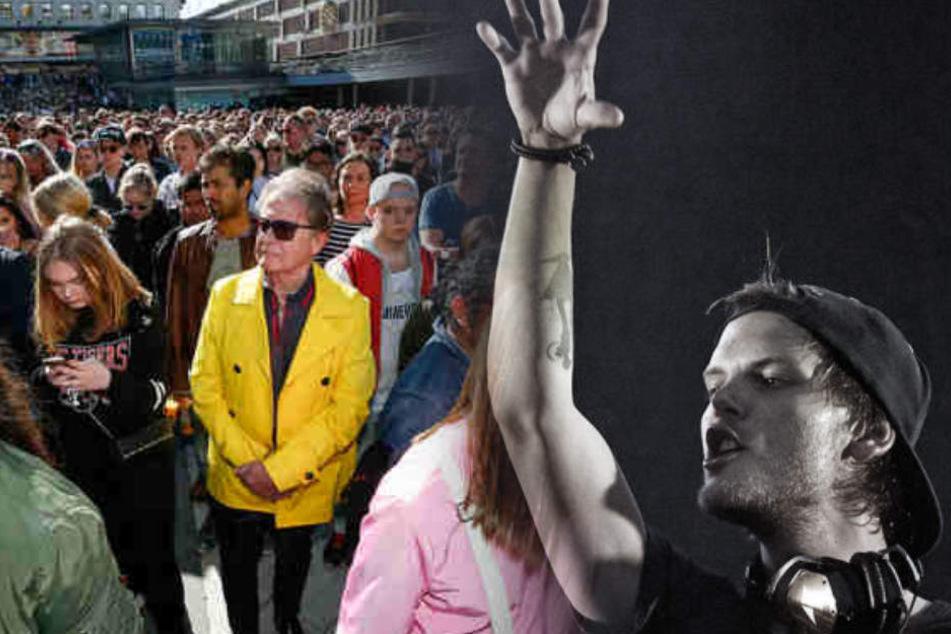 Tausende Fans des schwedischen DJs und Produzenten Avicii versammelten sich für eine Schweigeminute in Stockholm.