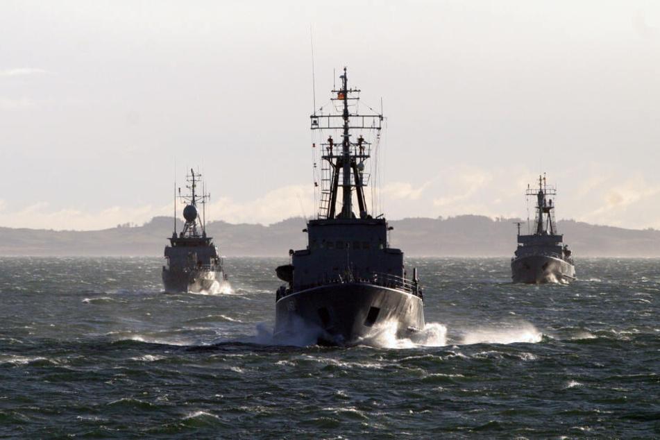 Auch Schiffe der Deutschen Marine stechen für den Einsatz in See. (Symbolbild)