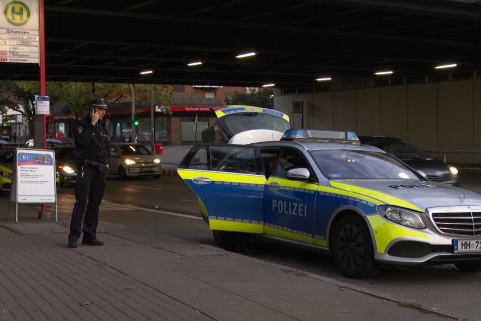 Die Polizei war mit mehreren Streifenwagen vor Ort.