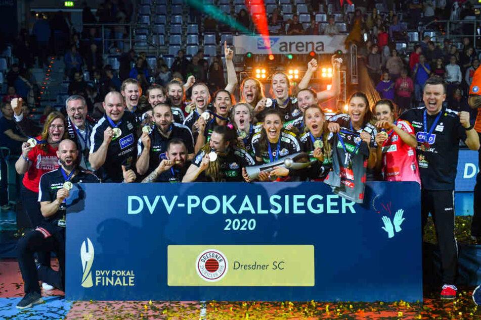 DVV-Pokalsieger 2020: Der Dresdner SC.