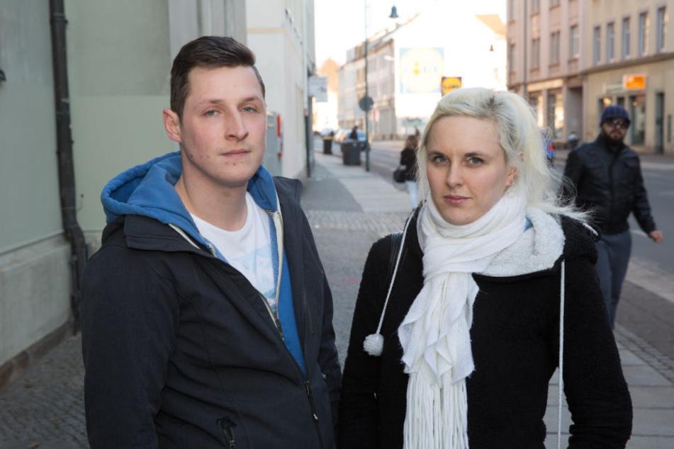 Konstrukteur Clemens Pannach (26) und seine Freundin Luisa Banke (23)  verstehen nicht, warum sie angegriffen wurden.