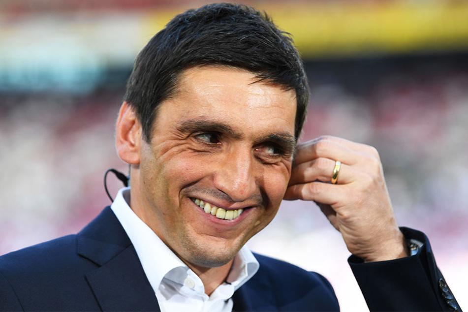 Der Stuttgart-Coach ist st mit seiner Mannschaft sehr zufrieden.