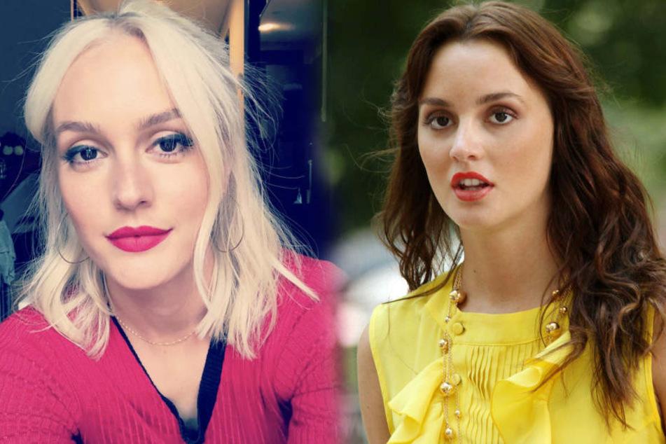 """Gossip Girl""-Star Leighton Meester (31) trägt jetzt platinblonde Haare."