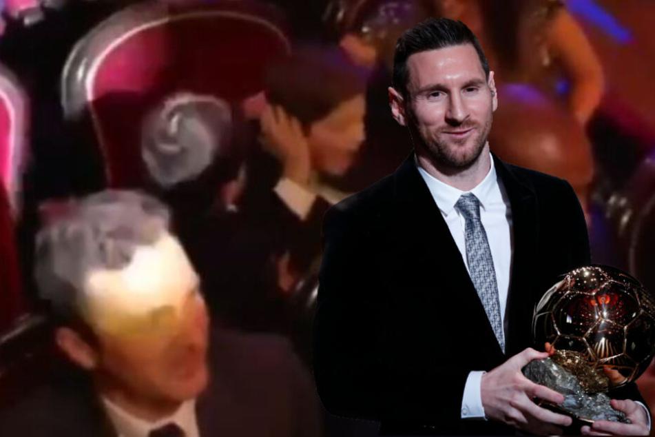 Backpfeife! Während Lionel Messi zum besten Fußballer der Welt gewählt wird, zoffen sich seine Kinder