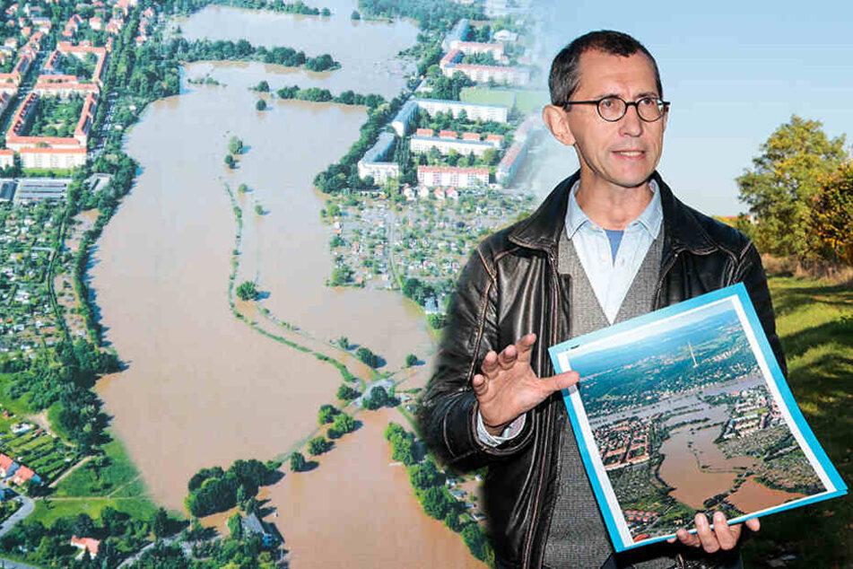 Dresden: Hundert Parzellen geräumt: Das ist der neue Flut-Schutz an der Elbe
