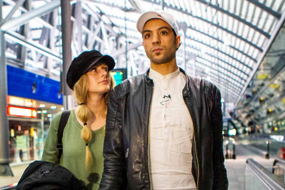 Bechir Arafet und seine Verlobte Lisa Ohrnberger sind gezeichnet vom Drama der vergangenen Wochen und vom vorübergehenden Abschied.