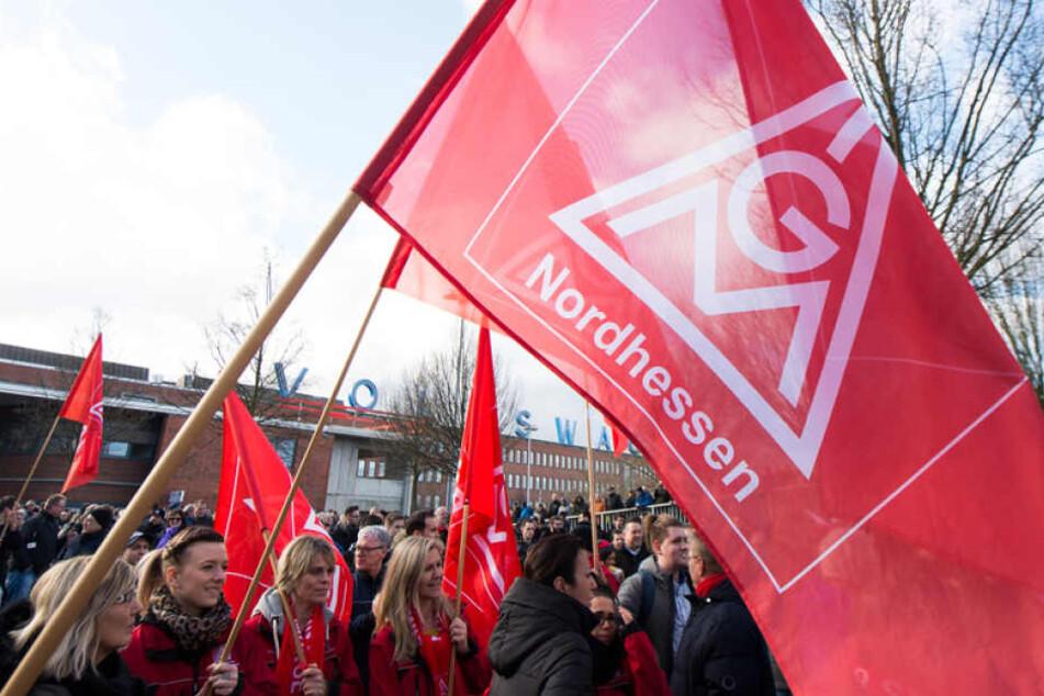 Auch für den Freitag kündigte die IG Metall wieder umfassende Streiks an.