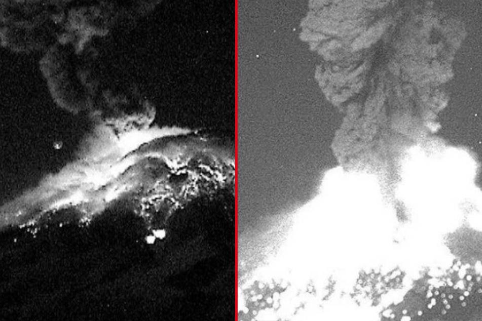Der Vulkan Popocatépetl ist erneut ausgebrochen.