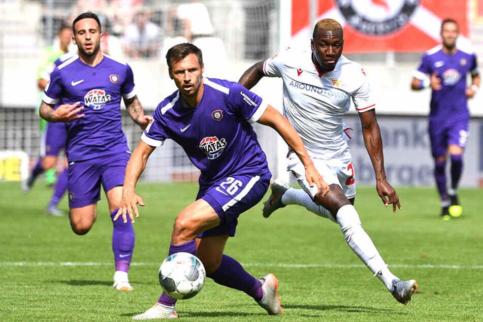 Ex-Dynamo Sören Gonther (Nummer 26) lieferte auch gegen Union eine ansprechende Leistung ab.