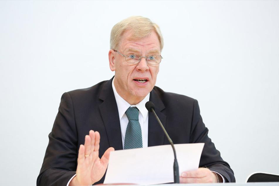 Georg Unland (63, CDU) ist seit 2008 Finanzminister des Freistaates  Sachsen.