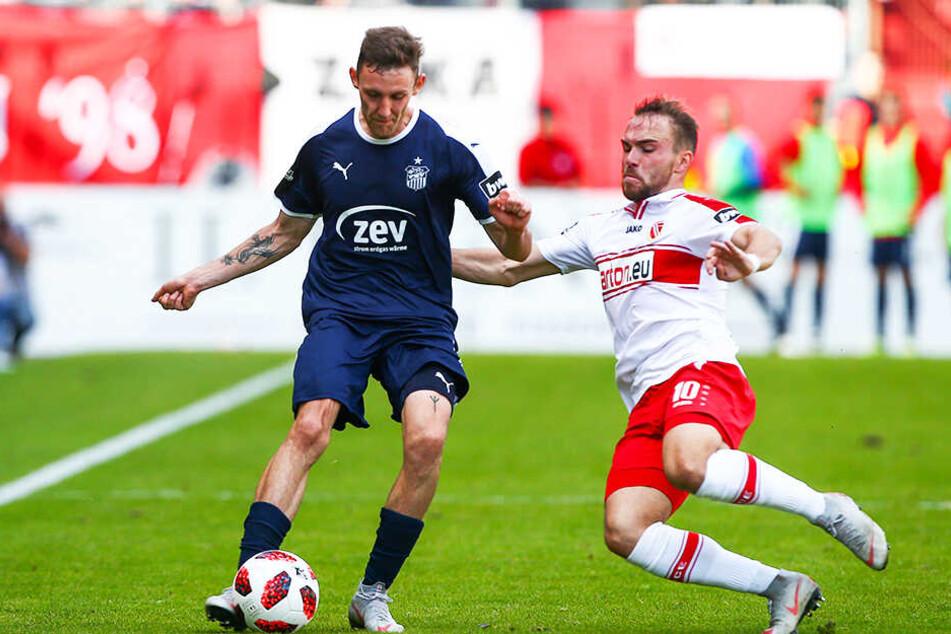 Fabio Viteritti (r.) im Duell mit seinem zukünftigen Mannschaftskollegen Christian Bickel.
