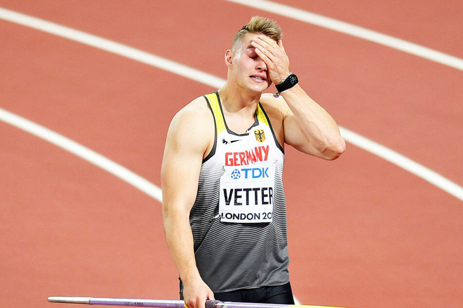 Mit Tränen in den Augen trat Vetter zum letzten und damit sechsten Wurf an. Bereits der erste hatte ihm Gold beschert.