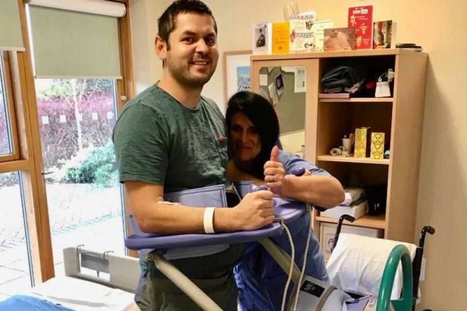 Richard Jackson (39) leidet an der Autoimmunkrankheit Transverse Myelitis.
