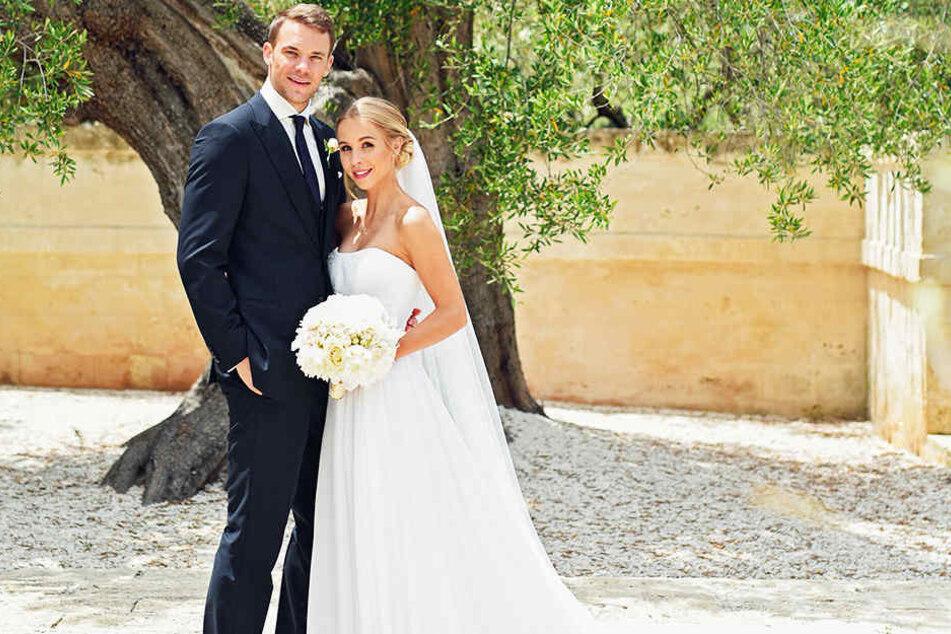 Traumhochzeit am 21. Mai 2017 im italienischen Monopoli: Manuel Neuer und seine Frau Nina Weiss.