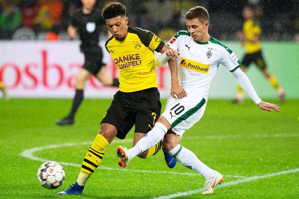 Könnten in der kommenden Saison eine großartige Flügelzange bei Borussia Dortmund bilden: Jadon Sancho (l.) und Thorgan Hazard.
