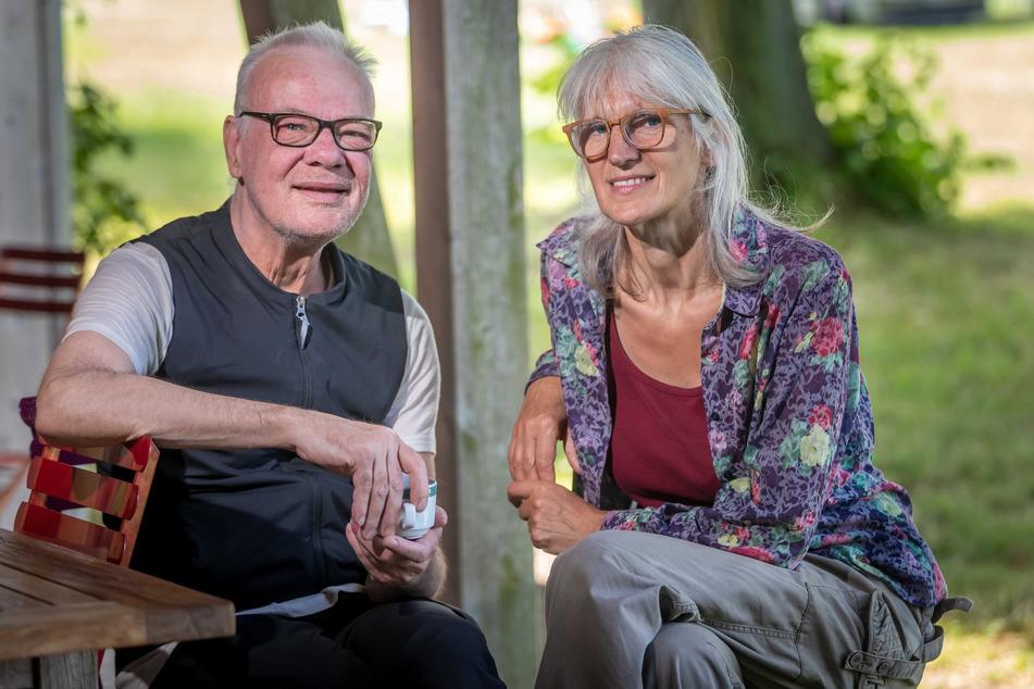 Sie leiten den MiO-Campingplatz samt Esswerkstatt: Stan Ofgers (67) und Birgit Fischer (59).