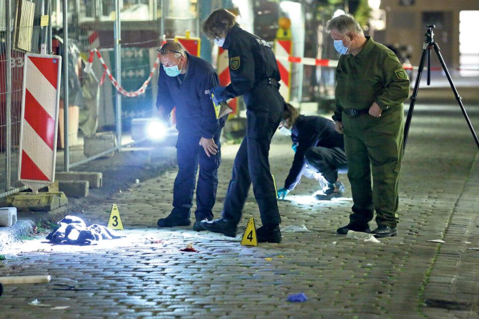 Messer-Attacke auf Touristen in Dresden: Der Täter ist noch immer auf der Flucht