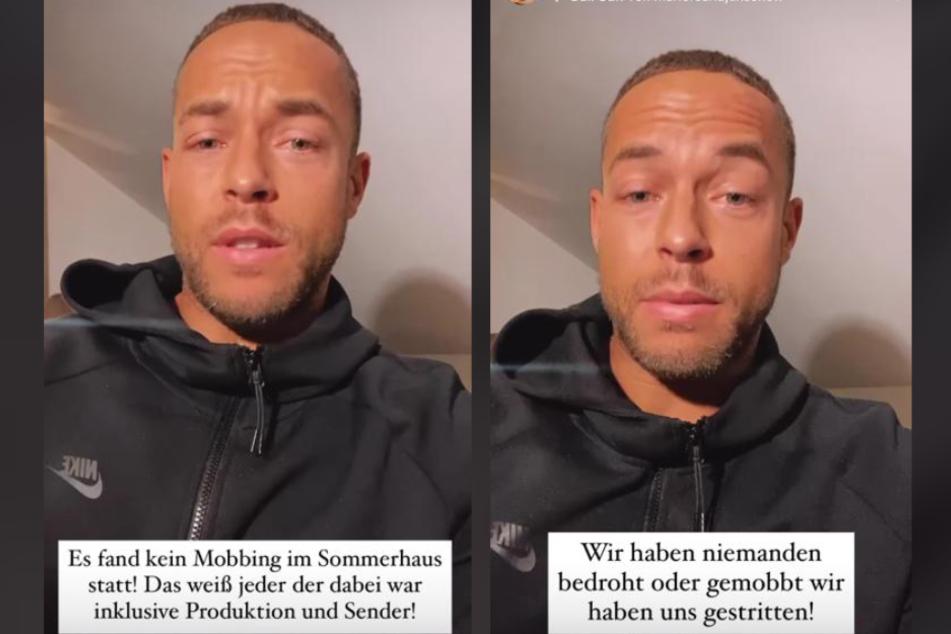 """Andrej mangold (33) beteuerte in seiner Instagram-Ansprache, dass im """"Sommerhaus"""" kein Mobbing stattgefunden habe."""