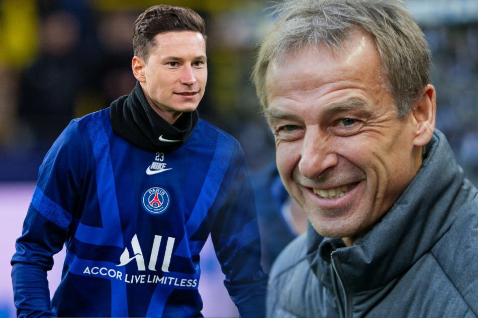 Jürgen Klinsmann (r.) wollte Julian Draxler nach Berlin locken.