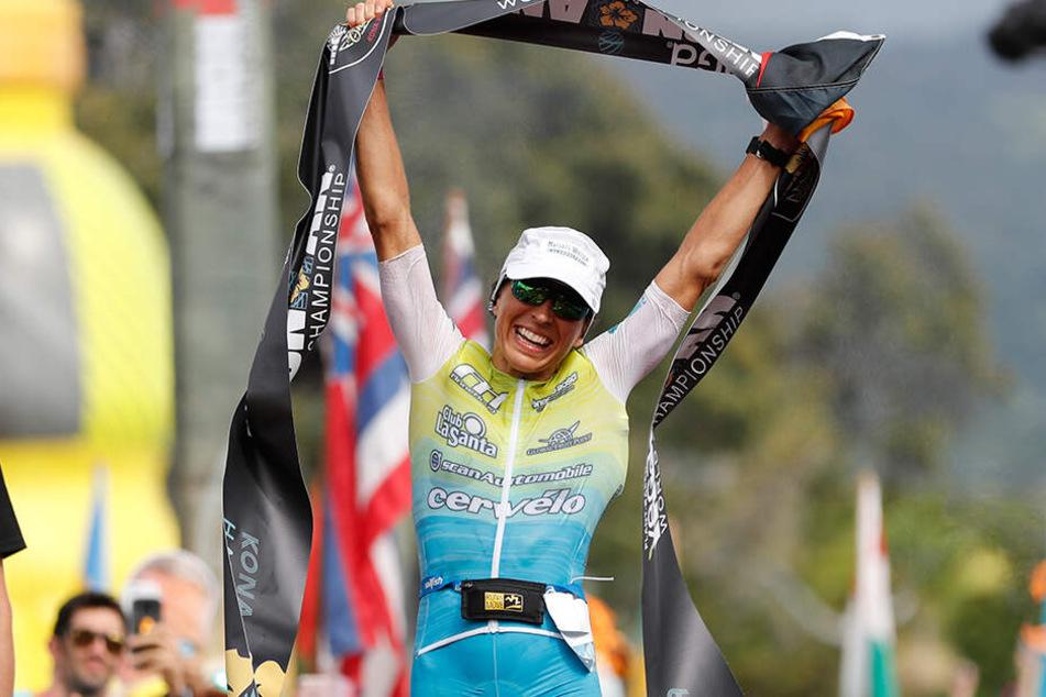 Auch Anne Haug holt Gold beim Ironman auf Hawaii.