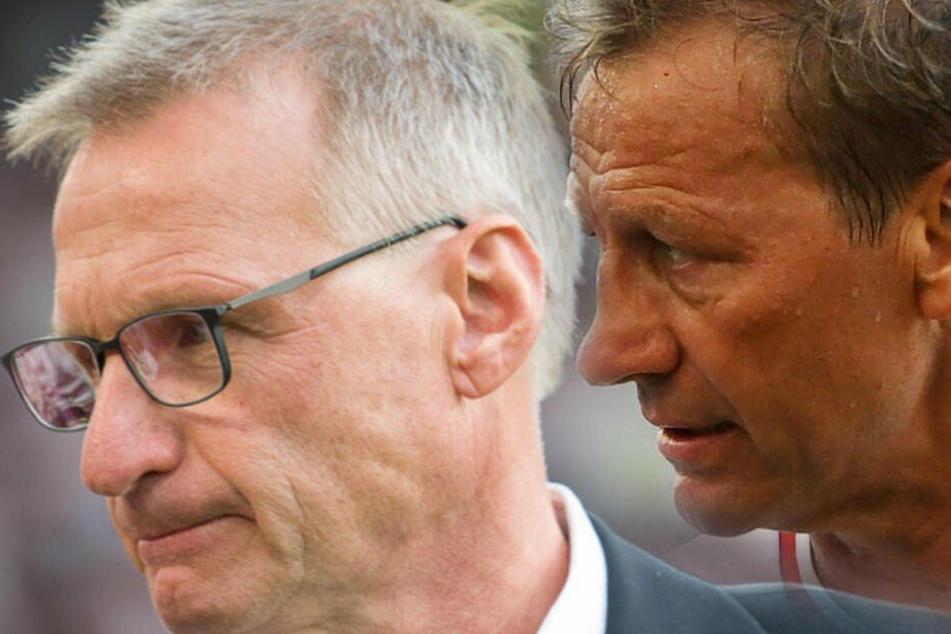 Haben schon länger kein gutes Verhältnis zueinander: Michael Reschke (l.) und VfB-Legende Guido Buchwald. (Fotomontage)