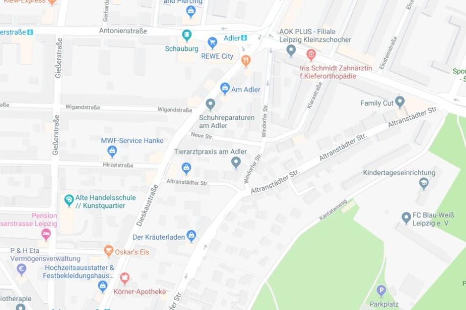 Der Unfall ereignete sich auf der Dieskaustraße, Höhe Wigandstraße.