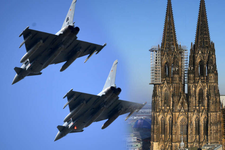 Köln: Eurofighter über Köln: Luftwaffe erklärt den Grund