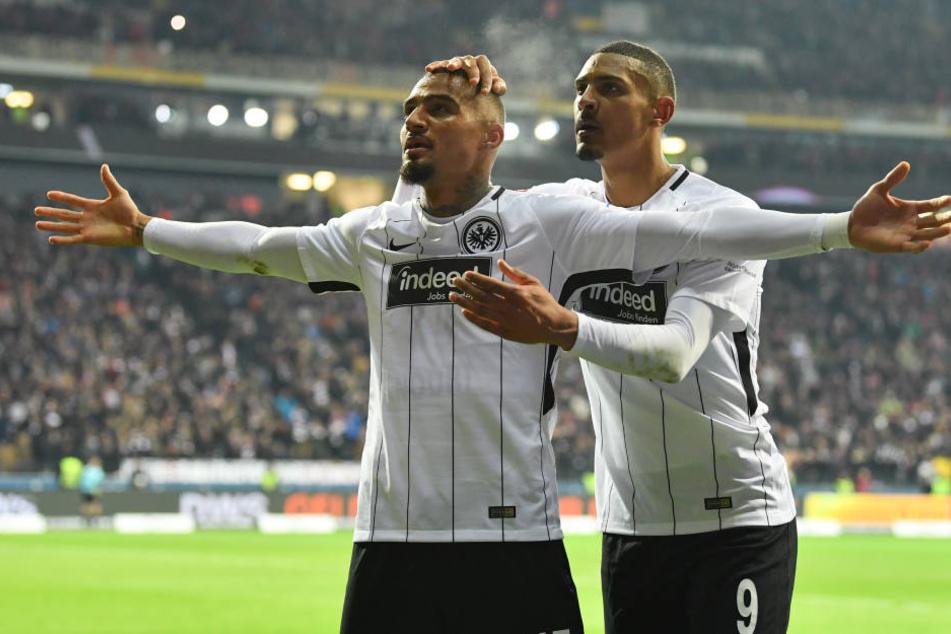 Kevin-Prince Boateng besorgte die 2:1-Führung für Frankfurt.