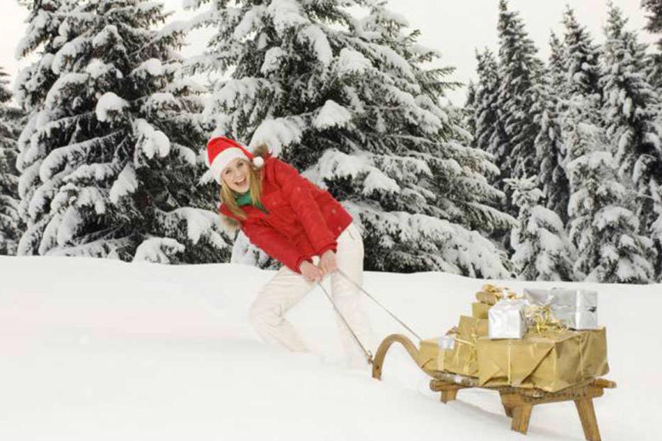 Solche Bilder wird es an Weihnachten wahrscheinlich nicht geben. Es sei denn, man stellt sich eine Schneekanone in den Garten.