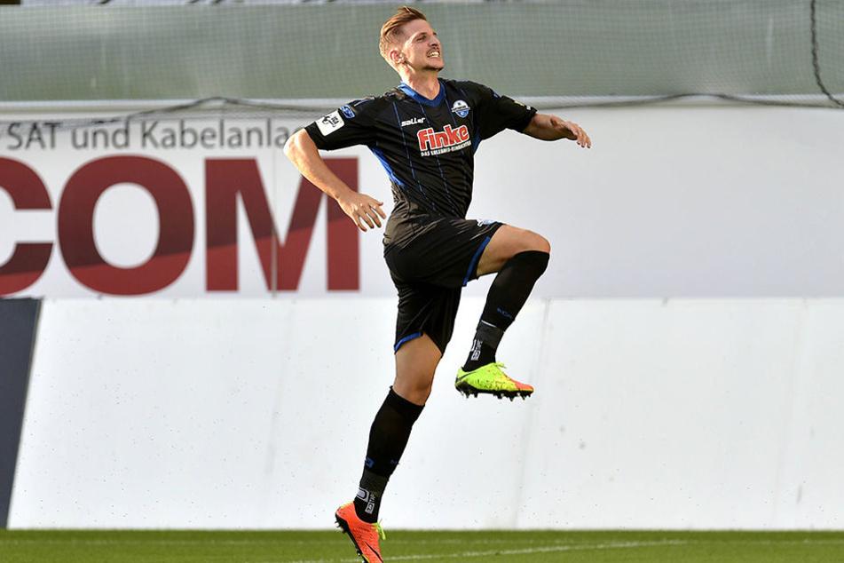 Schon nach einer Viertelstunde traf Sebastian Wimmer gegen Münster zum 2:0.