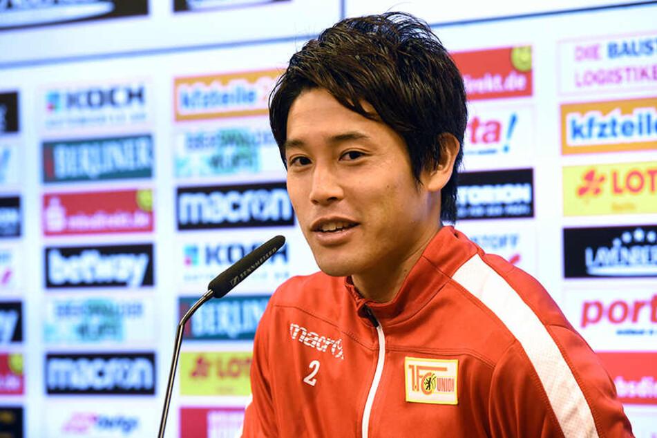 Der japanische Fußballspieler Atsuto Uchida wird als neuer Spieler beim 1. FC Union Berlin vorgestellt.