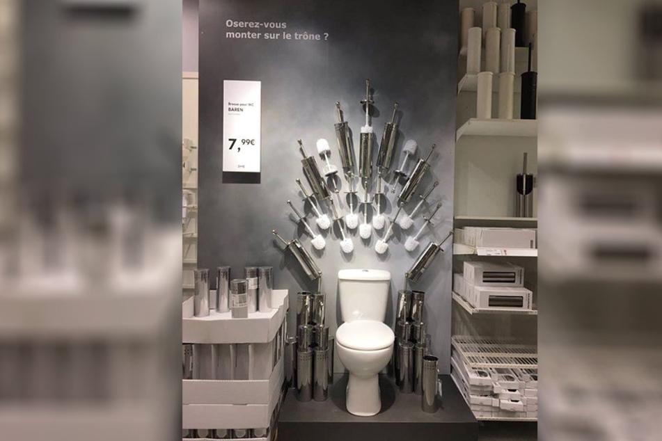 Sehr einfallsreich waren die Dekorateure in diesem französischem Ikea.