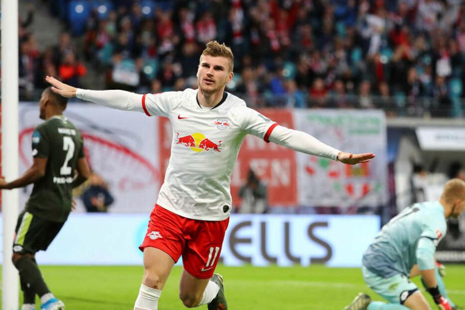 Timo Werner befindet sich nach seiner Vertragsverlängerung auf einem absoluten Höhenflug, ist im Schnitt an 1,3 Toren pro Spiel direkt beteiligt.