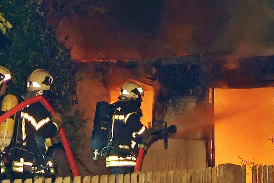 Von der Laube ist nach dem Brand nichts mehr übrig geblieben.