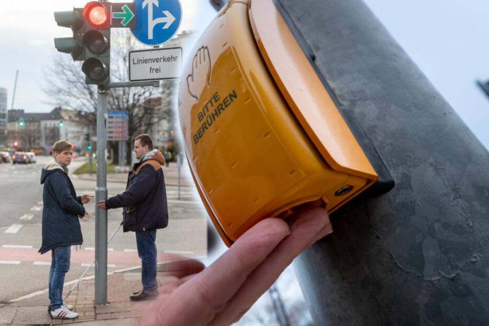 Chemnitz: Streit um Chemnitzer Fußgängerampeln: Blinde fordern Sicherheit