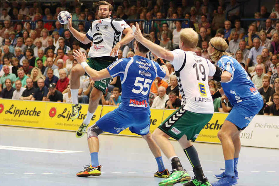 Helge Freimann (Nr. 6) und Joakim Larsson (Nr. 19) müssen in Berlin alles raushauen.