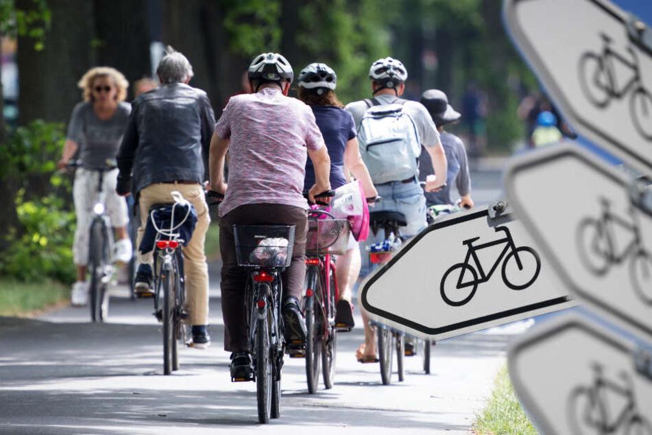 Leipzig belegt im großen ADFC-Fahrradklima-Test den dritten Platz. (Fotomontage)