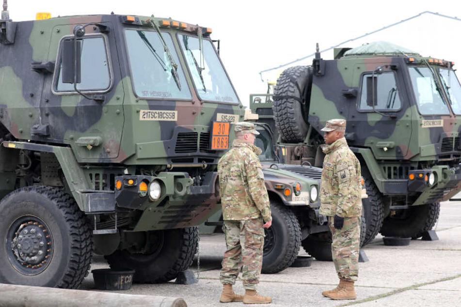 """Rund 1700 US-Soldaten werden über Hagenow und Torgelow nach Osten zum Manöver """"Defender Europe 2020"""" verlegt. (Archivbild)"""
