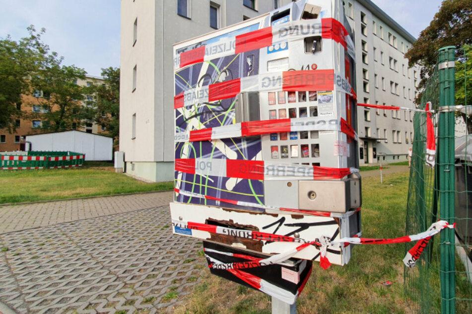 In der Geibelstraße wurde ein Zigarettenautomat gesprengt.