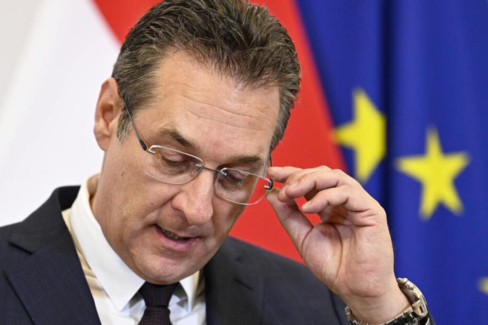 Der gefallene Vize-Kanzler Österreichs, Heinz-Christian Strache.