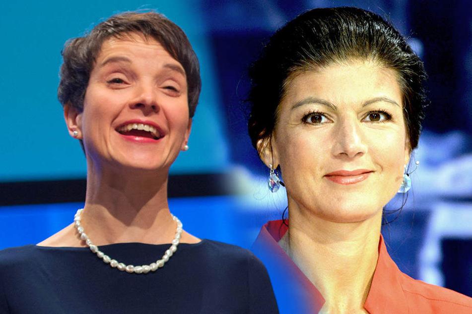 Frauke Petry (41, links) und Sahra Wagenknecht (47, rechts).