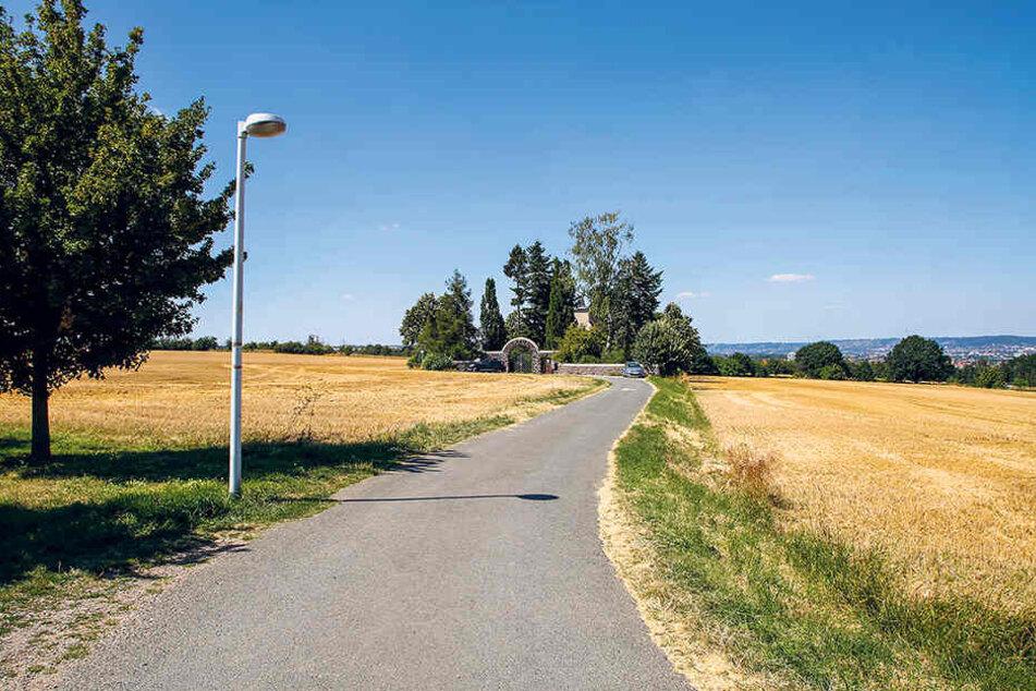 Am Friedhofsweg in Dölzschen missbrauchte ein Radler ein Kind (11) schwer.