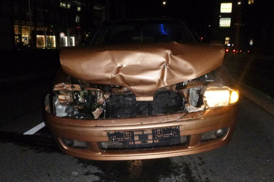 Der Mitsubishi-Fahrer konnte nicht mehr rechtzeitig bremsen.